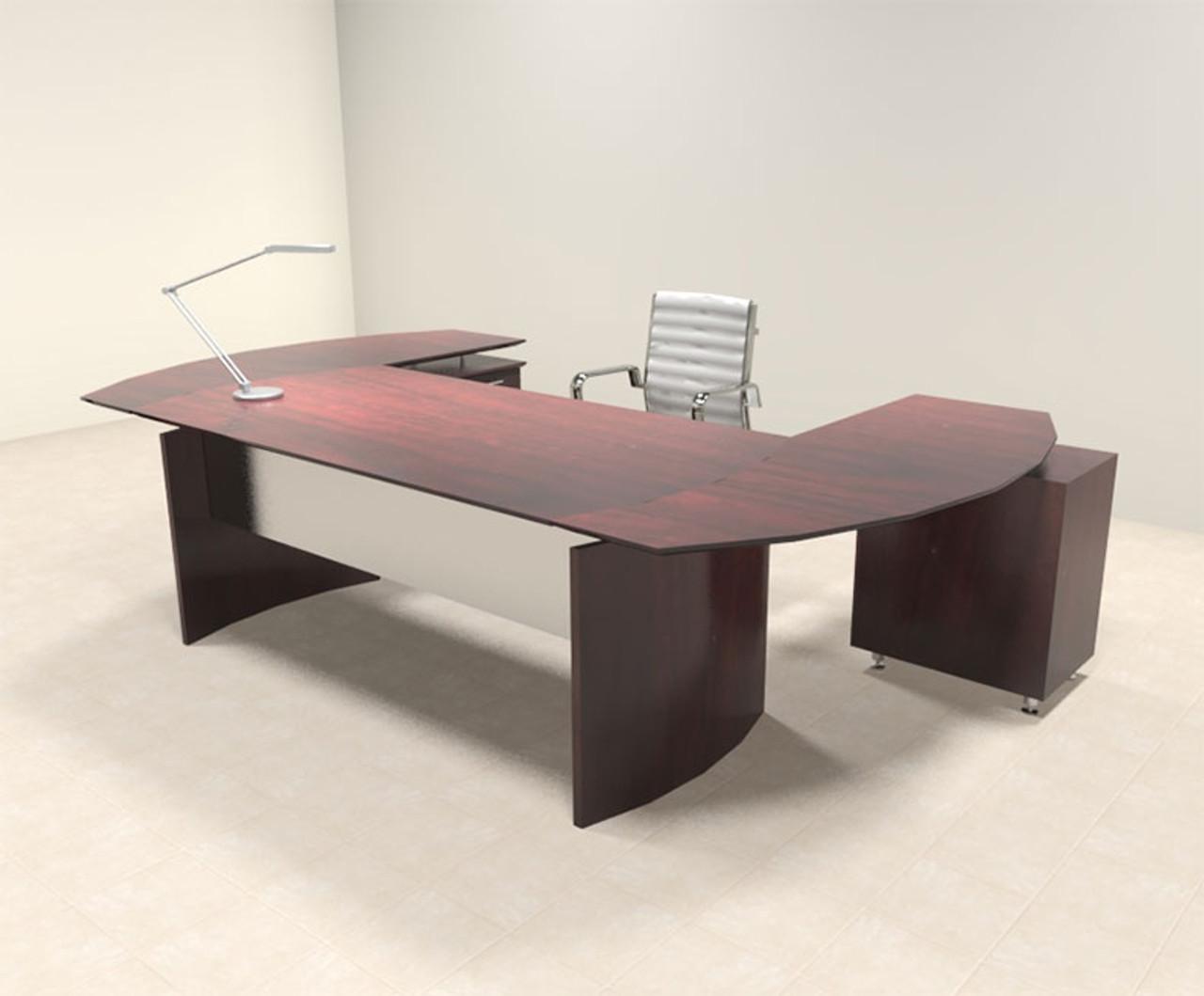 3pc Modern Contemporary U Shaped Executive Office Desk Set, #MT-MED-O8