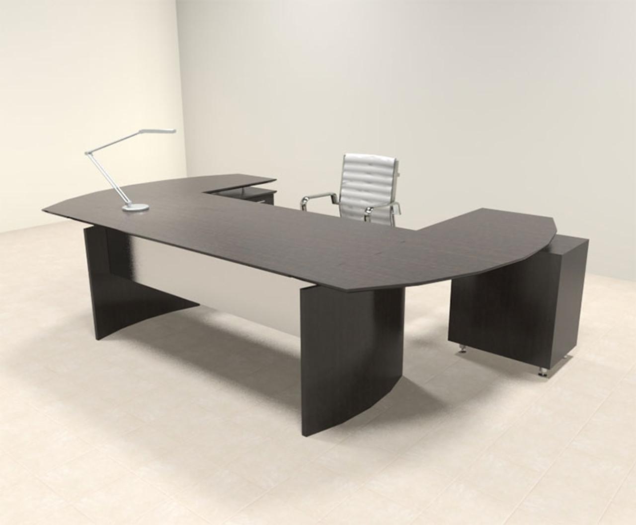 3pc Modern Contemporary U Shaped Executive Office Desk Set, #MT-MED-O9