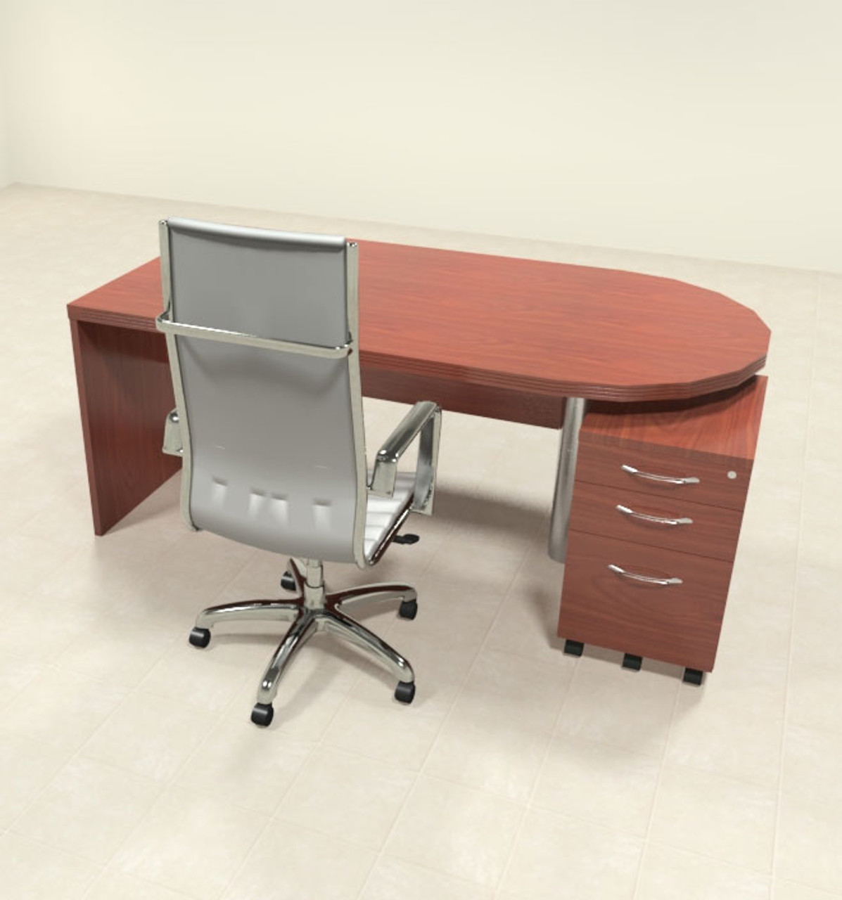 2pc Modern Contemporary Executive Office Desk Set, #RO-ABD-D2