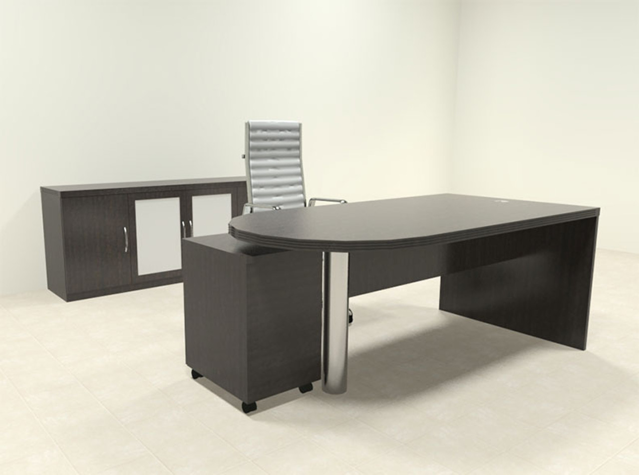 3pc Modern Contemporary Executive Office Desk Set, #RO-ABD-D30