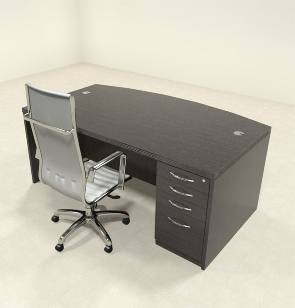 2pc Modern Contemporary Executive Office Desk Set, #RO-ABD-D6