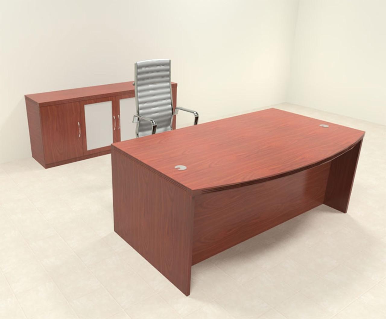 3pc Modern Contemporary Executive Office Desk Set, #RO-ABD-D8