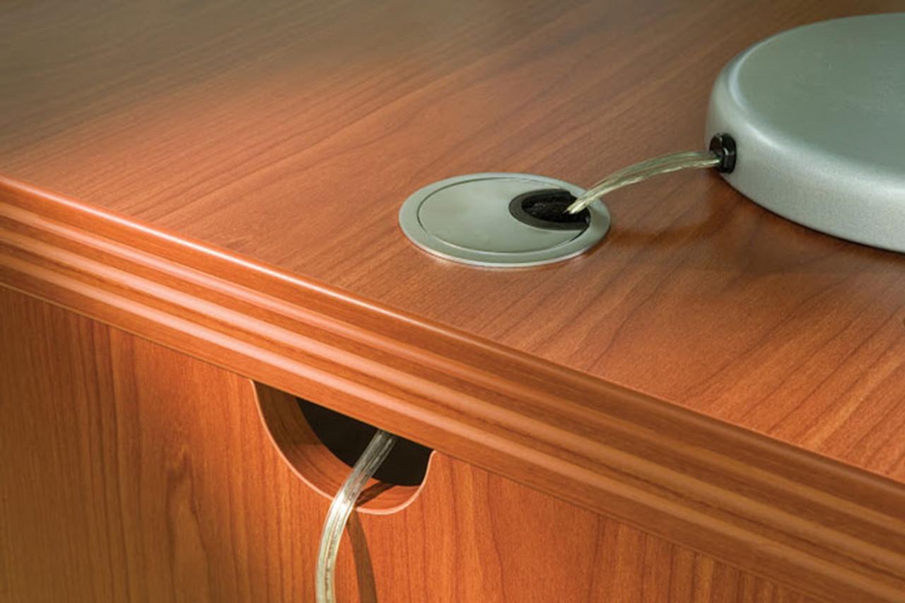 4pc Modern Contemporary U Shaped Glass Reception Desk Set, #RO-ABD-R8