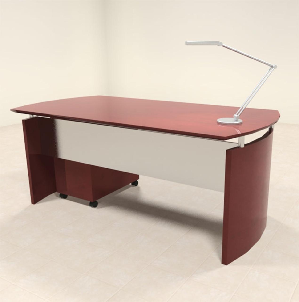 2pc Modern Contemporary Executive Office Desk Set, #RO-NAP-D2