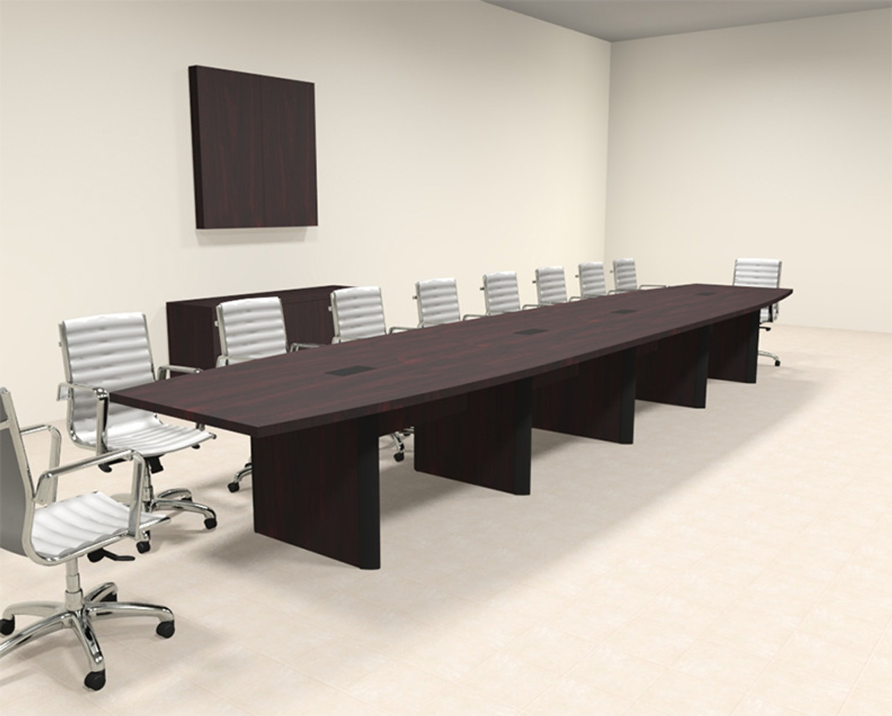 Modern Boat Shaped Feet Conference Table OFCONCP HO - 20 foot conference table