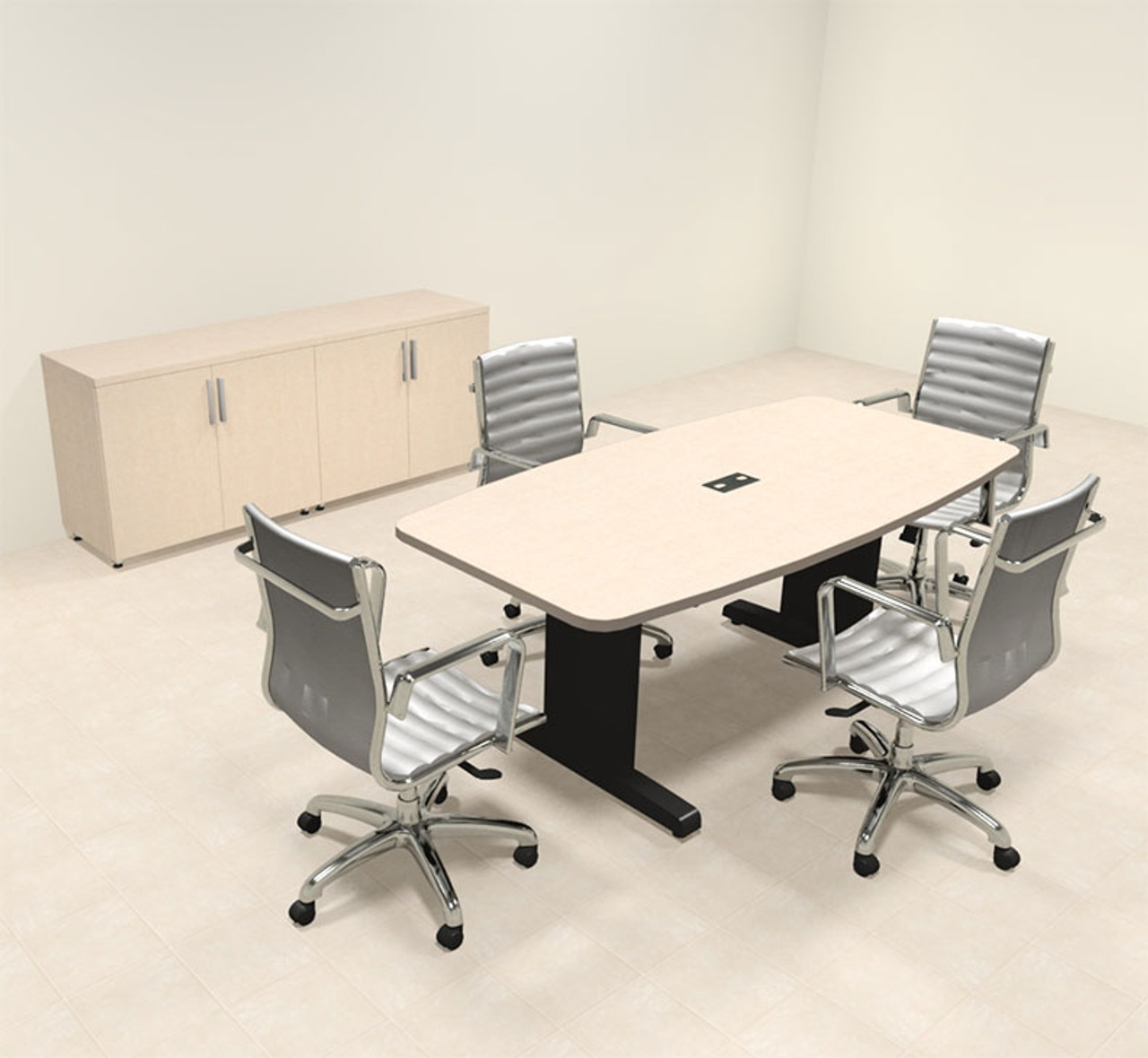 Modern Boat Shaped 6' Feet Conference Table, #MT-CSD-C8