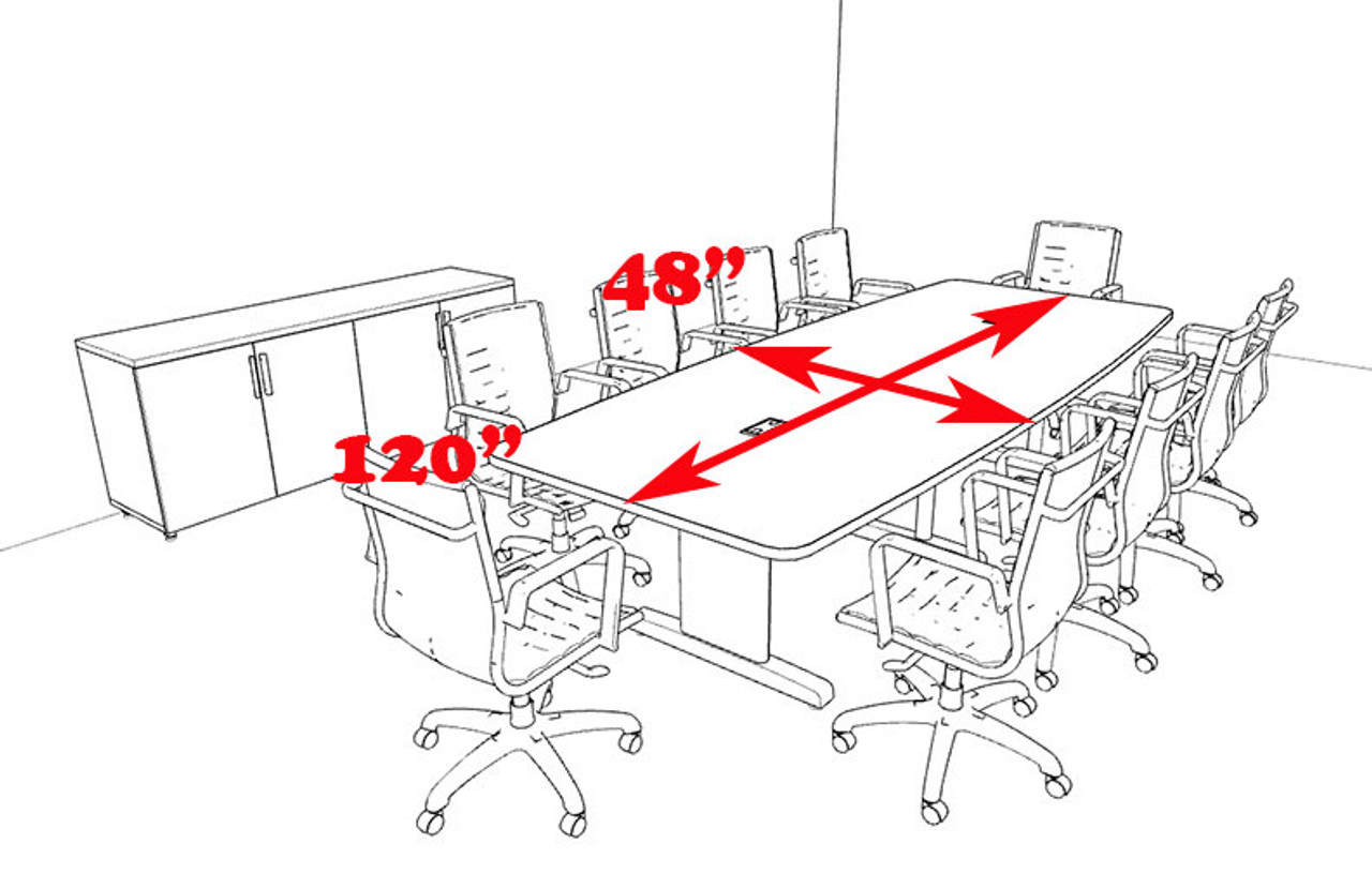 Modern Boat Shaped 10' Feet Conference Table, #MT-CSD-C79