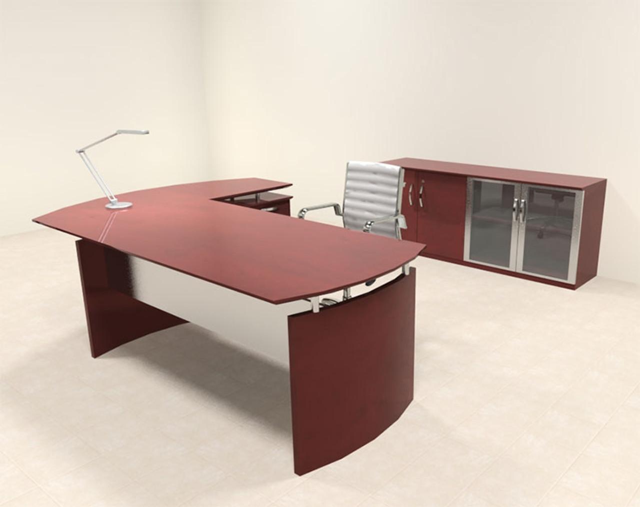 3pc modern contemporary l shape executive office desk set ro nap rh h2ofurniture com