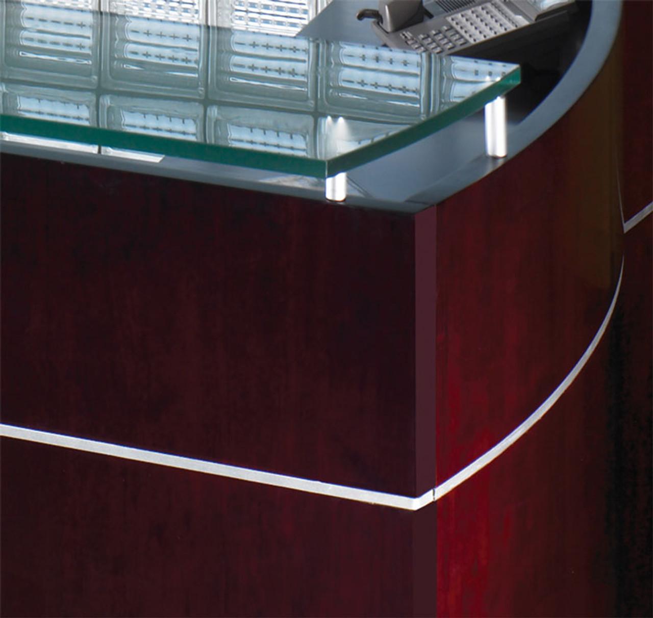 3pc Modern Contemporary L Shape Executive Office Desk Set, #RO-NAP-L6