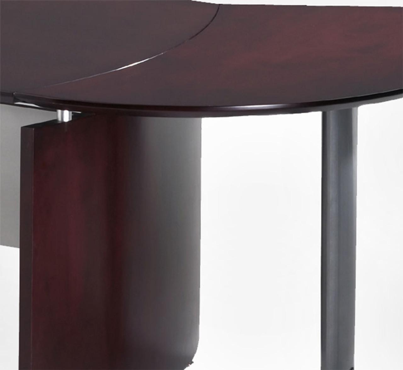 4pc Modern Contemporary U Shape Executive Office Desk Set, #RO-NAP-U2
