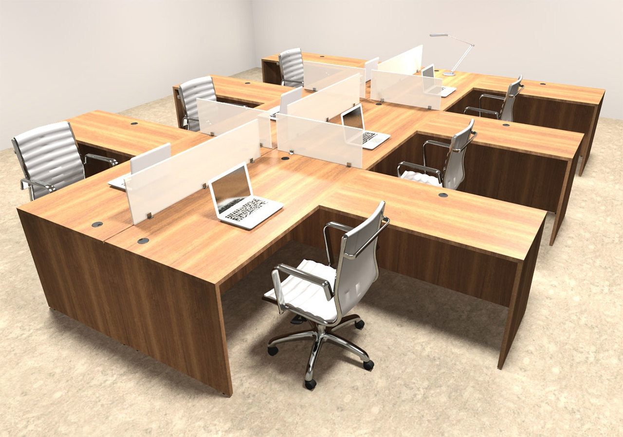 workstation cluster powered desk furniture modular office shop