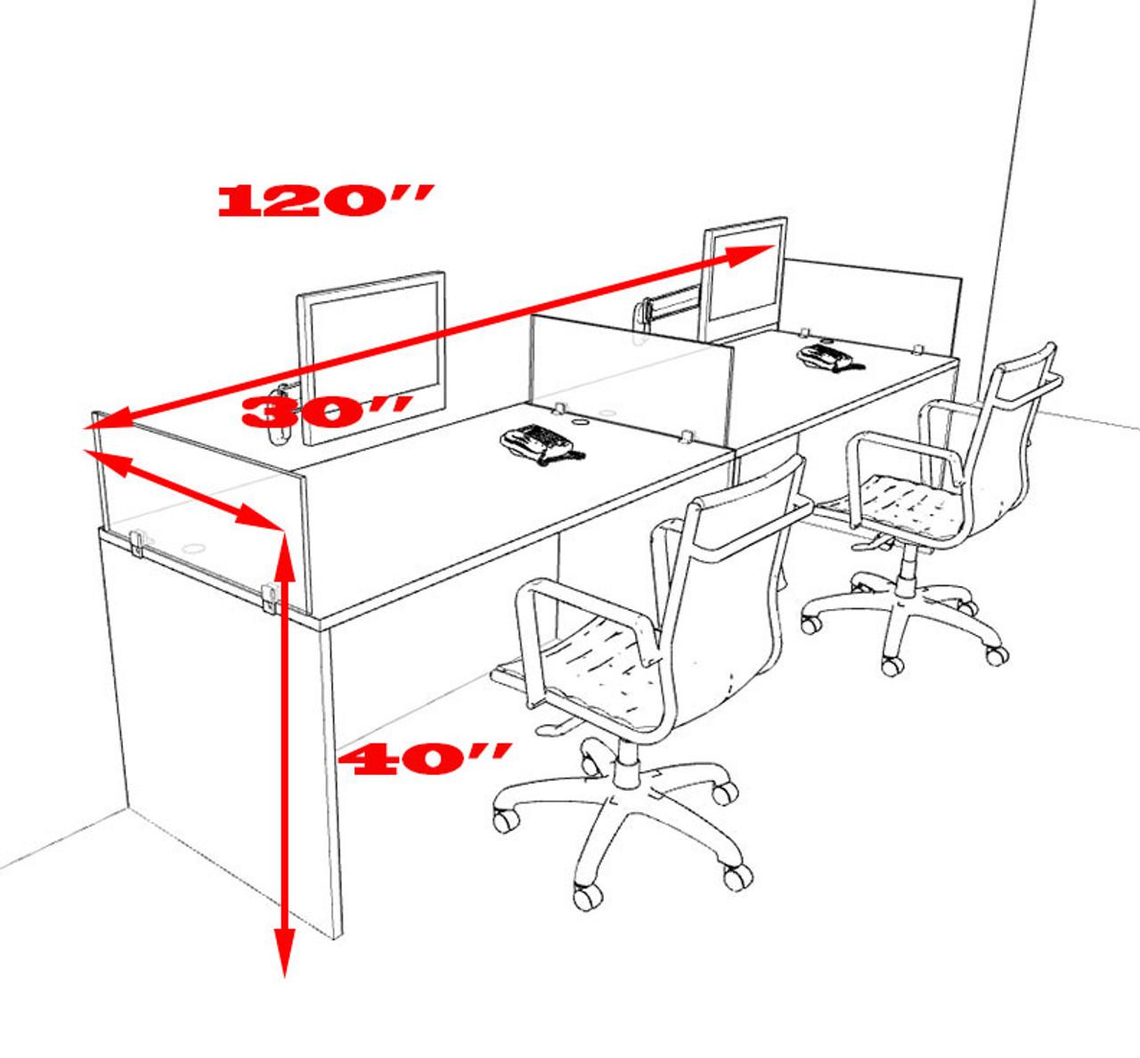Two Person Divider Modern Office Workstation Desk Set, #OT-SUL-SP21