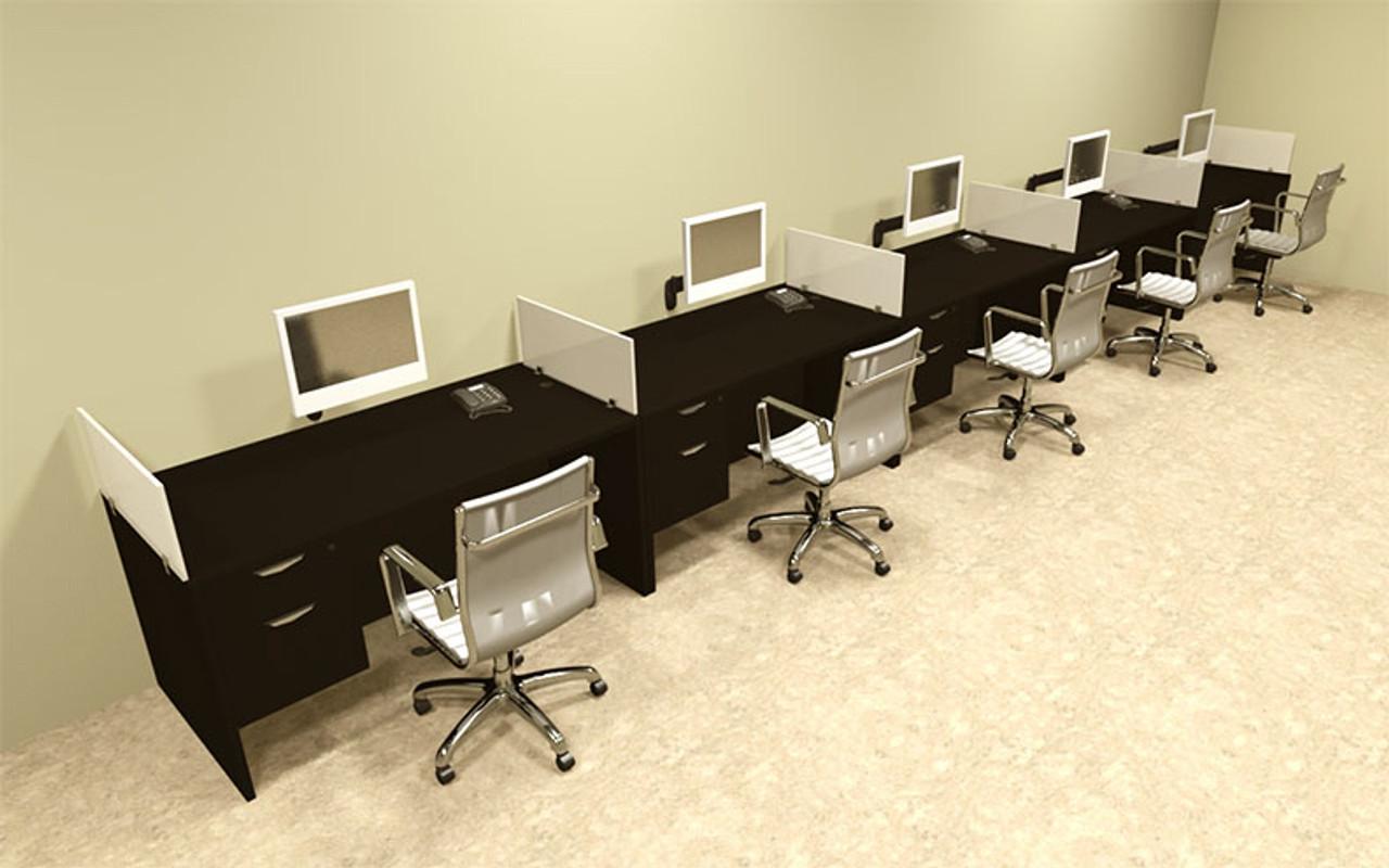 Five Person Divider Modern Office Workstation Desk Set, #OT-SUL-SP36