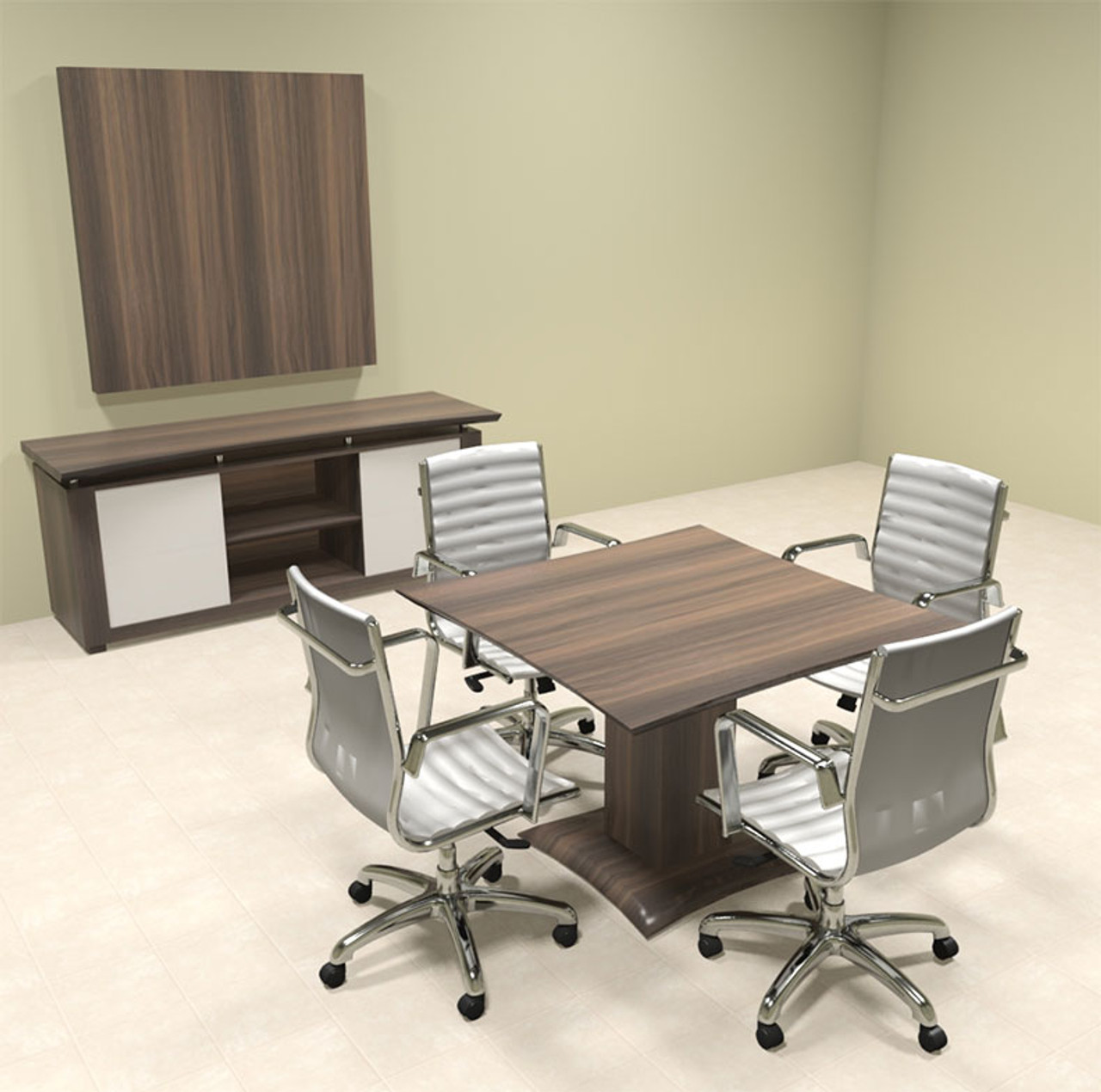 "Modern Contemporary 42"" Square Conference Table, #MT-STE-C2"