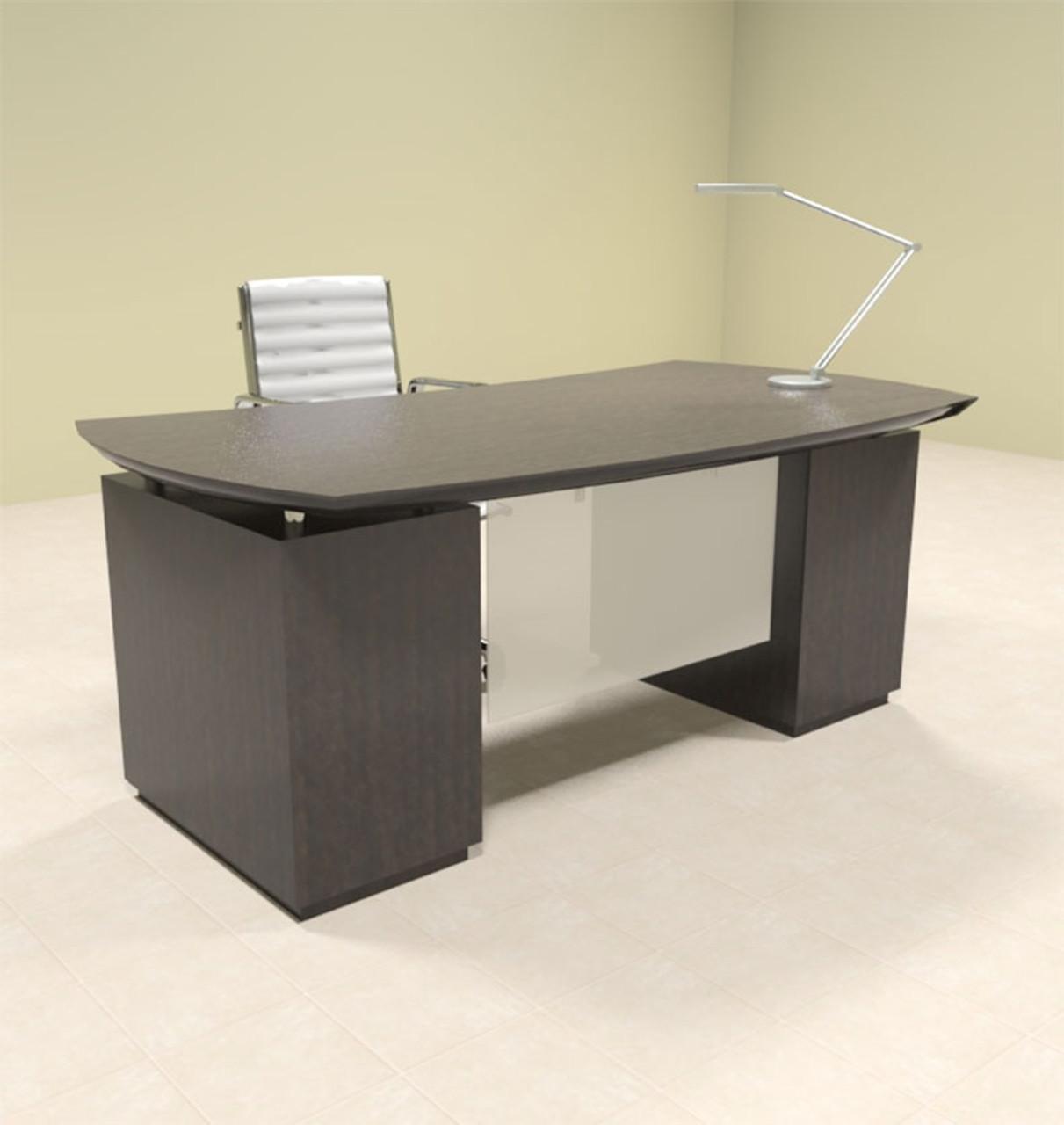 3pc Modern Contemporary Executive Office Desk, #MT-STE-D3