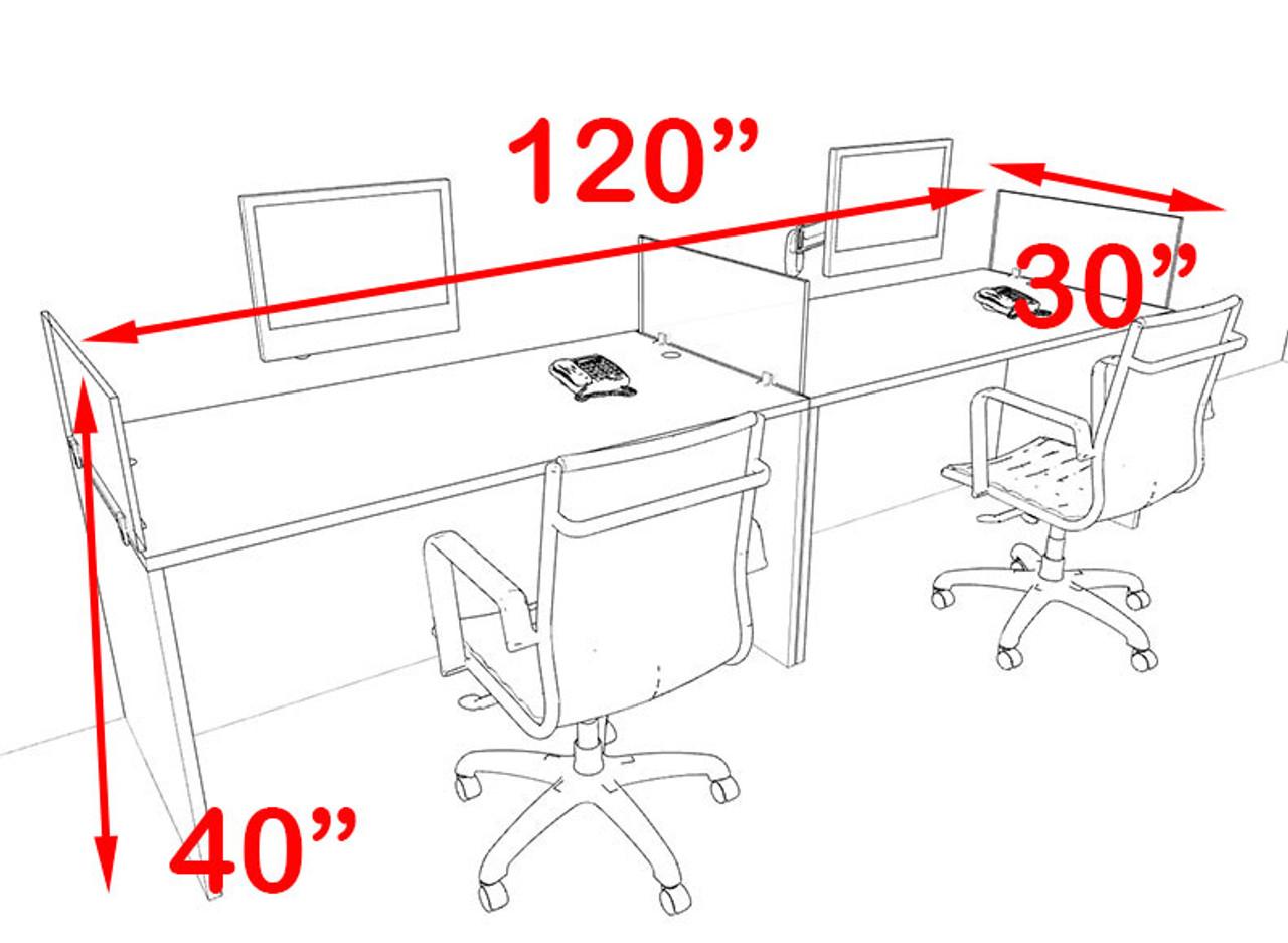 Two Person Blue Divider Office Workstation Desk Set, #OT-SUL-SPB1