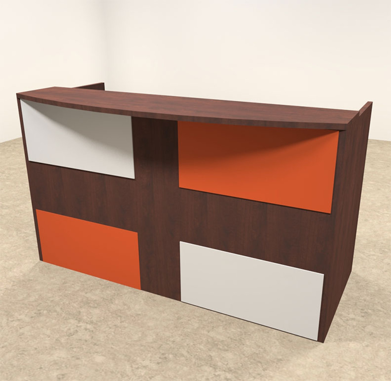 2pc Rectangular Modern Acrylic Panel Office Reception Desk, #OT-SUL-RM38