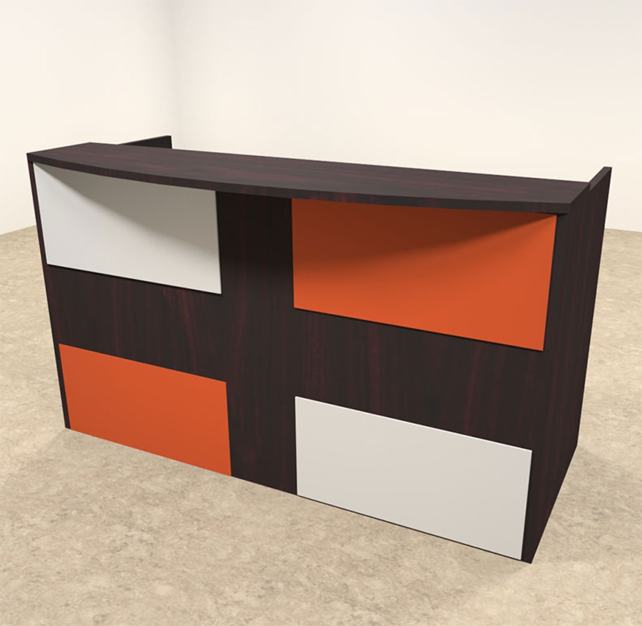 2pc Rectangular Modern Acrylic Panel Office Reception Desk, #OT-SUL-RM39