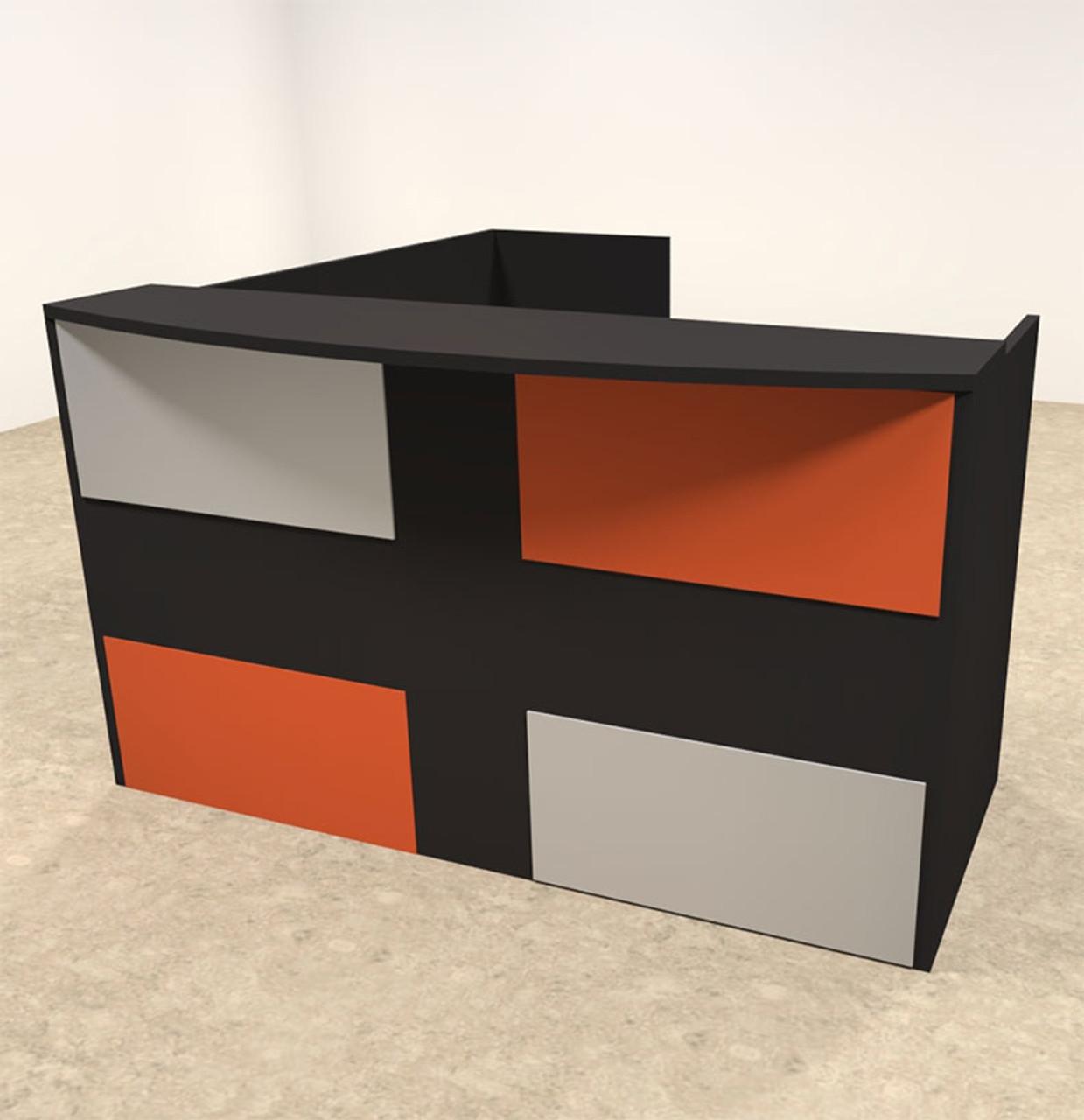 3pc L Shaped Modern Acrylic Panel Office Reception Desk, #OT-SUL-RM48