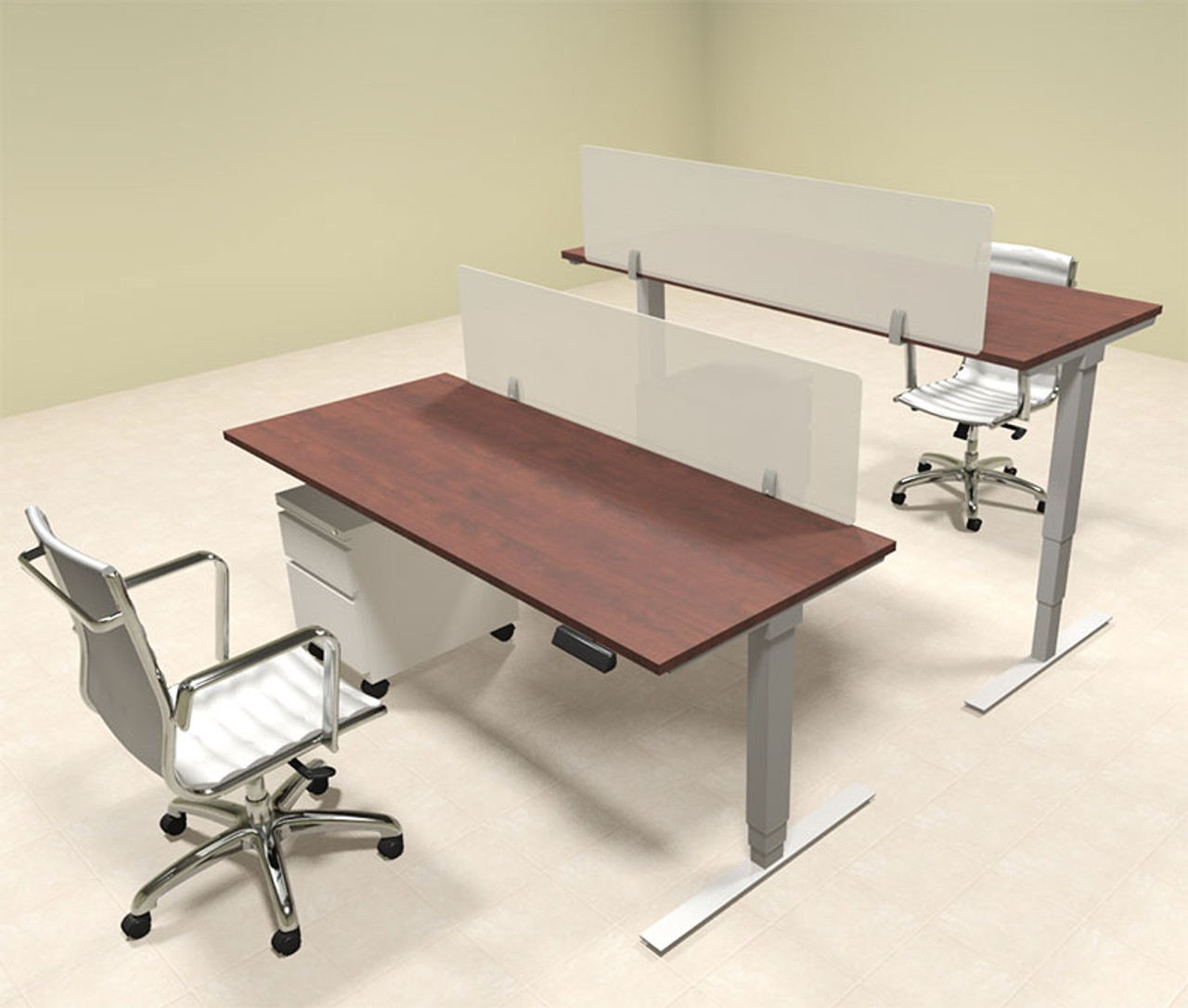 Two Persons Modern Power Adjustable Divider Workstation, #OF-CON-HP15