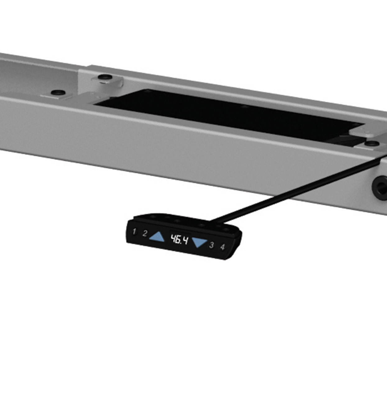 Four Persons L Shaped Power Adjustable Divider Workstation, #OF-CON-HP40