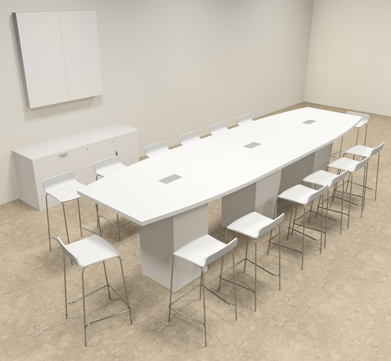 Boat Shape Counter Height Feet Conference Table OFCONCT - 14 foot conference table