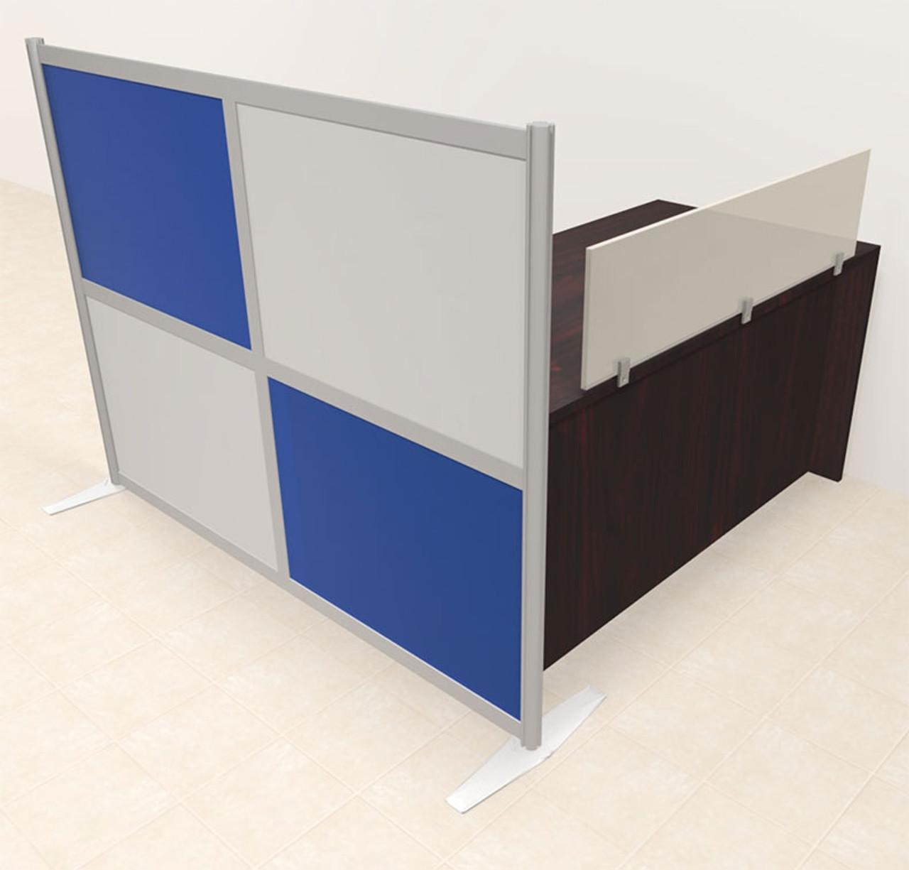 One Person Workstation w/Acrylic Aluminum Privacy Panel, #OT-SUL-HPB3
