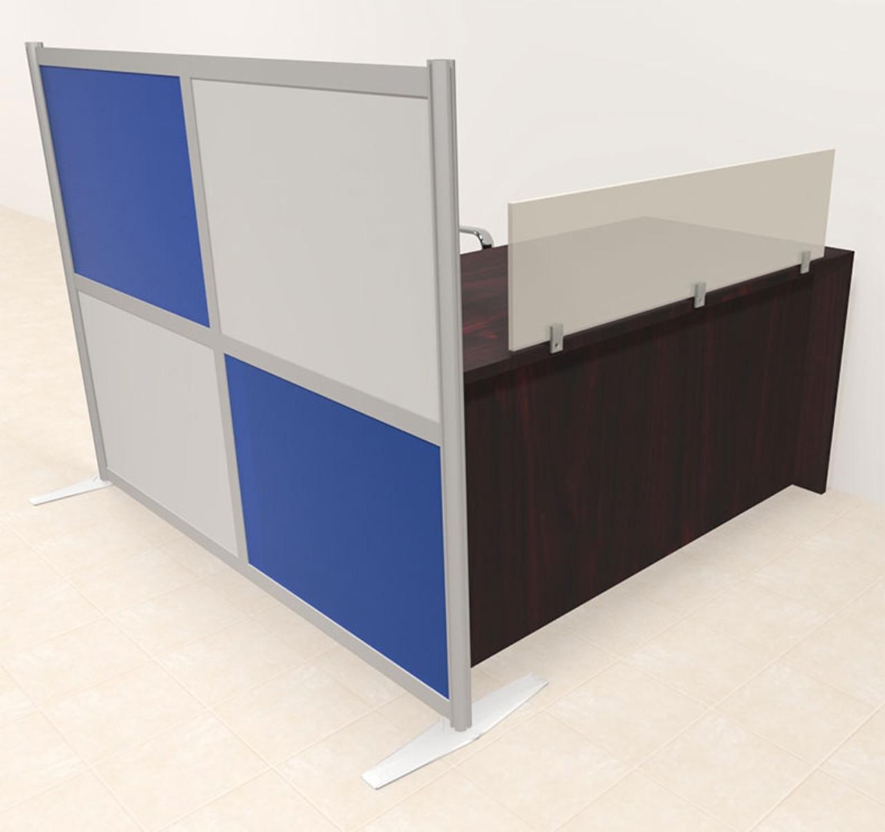 One Person Workstation w/Acrylic Aluminum Privacy Panel, #OT-SUL-HPB39