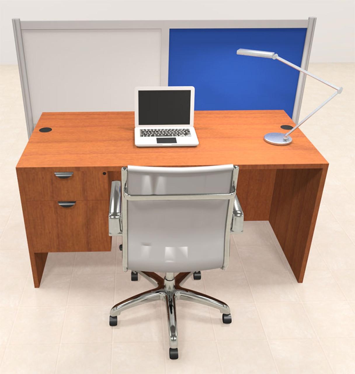 One Person Workstation w/Acrylic Aluminum Privacy Panel, #OT-SUL-HPB61