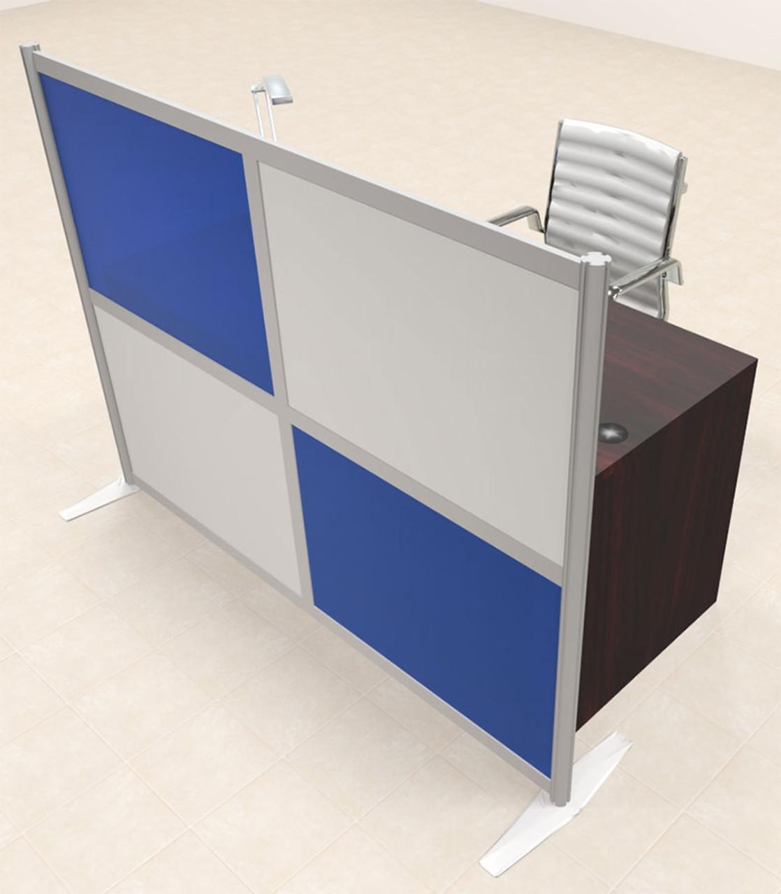 One Person Workstation w/Acrylic Aluminum Privacy Panel, #OT-SUL-HPB63