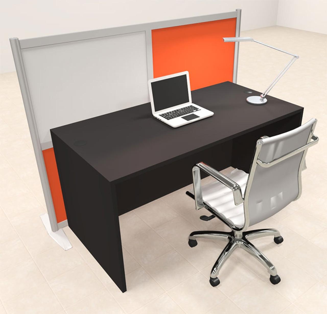 One Person Workstation w/Acrylic Aluminum Privacy Panel, #OT-SUL-HPO100