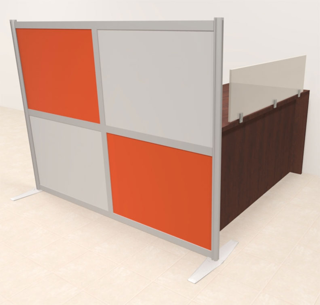 One Person Workstation w/Acrylic Aluminum Privacy Panel, #OT-SUL-HPO110