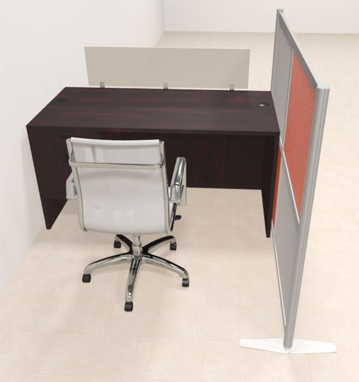 One Person Workstation w/Acrylic Aluminum Privacy Panel, #OT-SUL-HPO111