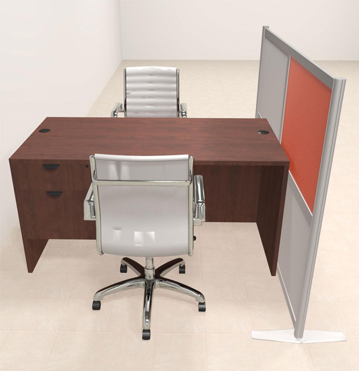 One Person Workstation w/Acrylic Aluminum Privacy Panel, #OT-SUL-HPO122
