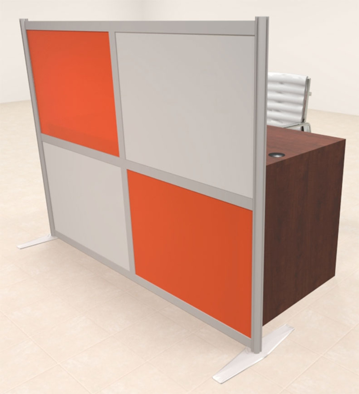 One Person Workstation w/Acrylic Aluminum Privacy Panel, #OT-SUL-HPO134