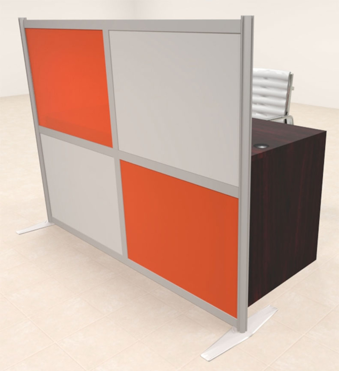 One Person Workstation w/Acrylic Aluminum Privacy Panel, #OT-SUL-HPO135