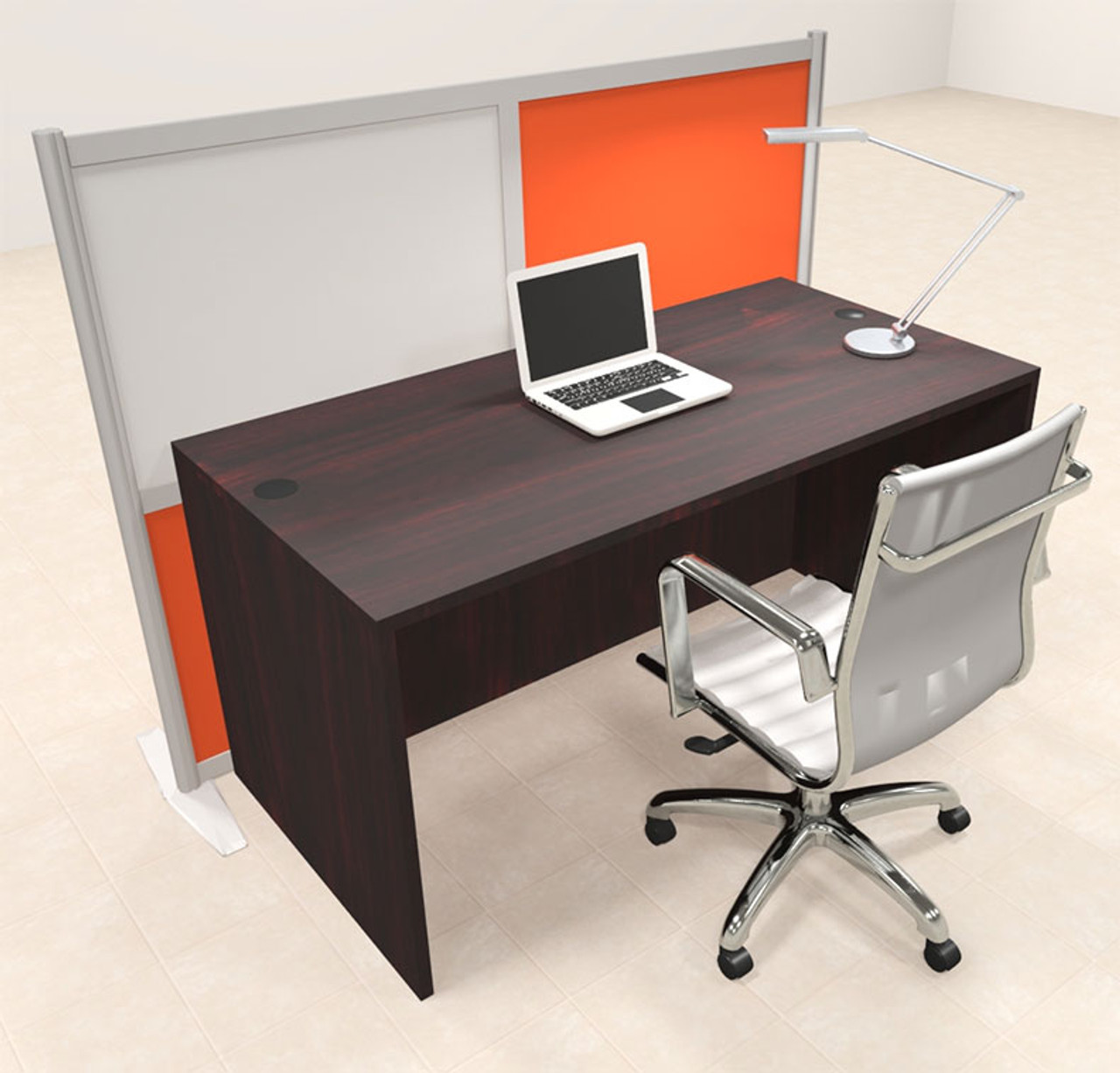 One Person Workstation w/Acrylic Aluminum Privacy Panel, #OT-SUL-HPO99