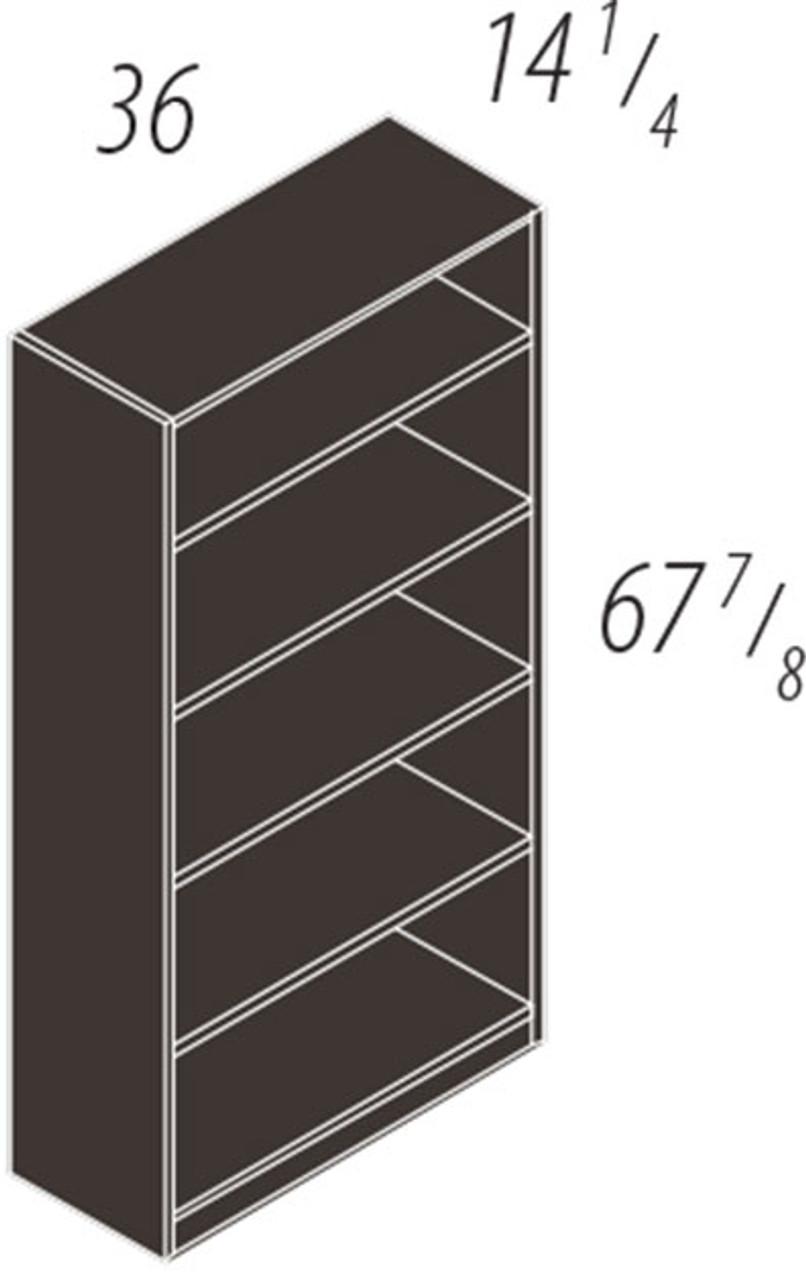 """67 7/8""""h 4 shelf Bookcase, #CH-VER-CAB11"""