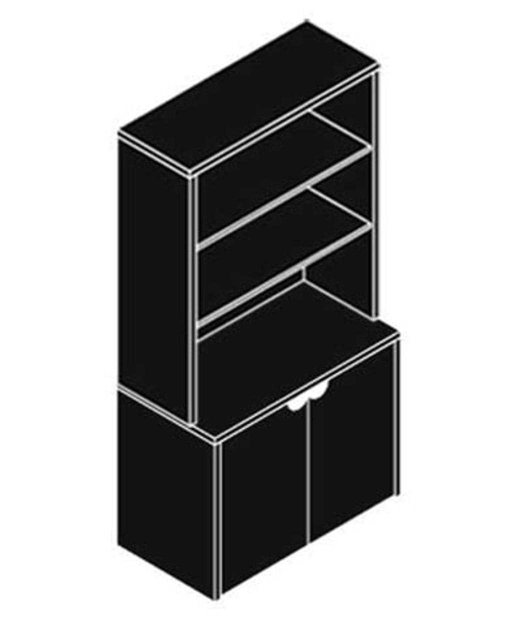 2 Door Storage + Hutch, #CH-JAD-CAB2