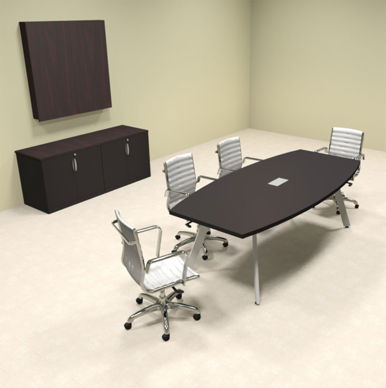 Modern Boat shaped 8' Feet Conference Table, #OF-CON-CV6
