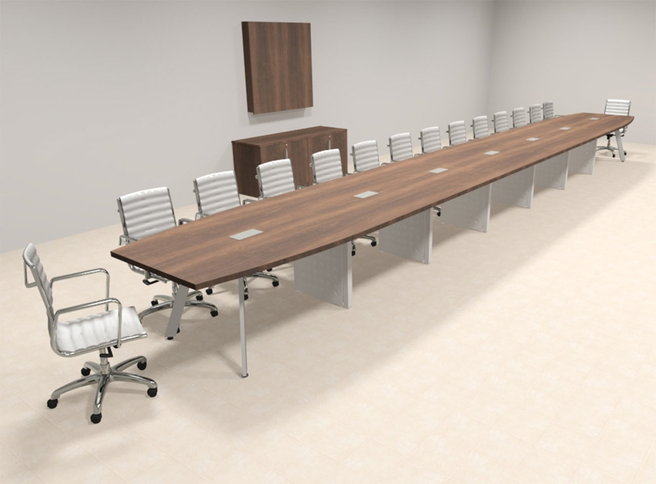 Modern Boat shaped 30' Feet Conference Table, #OF-CON-CV80
