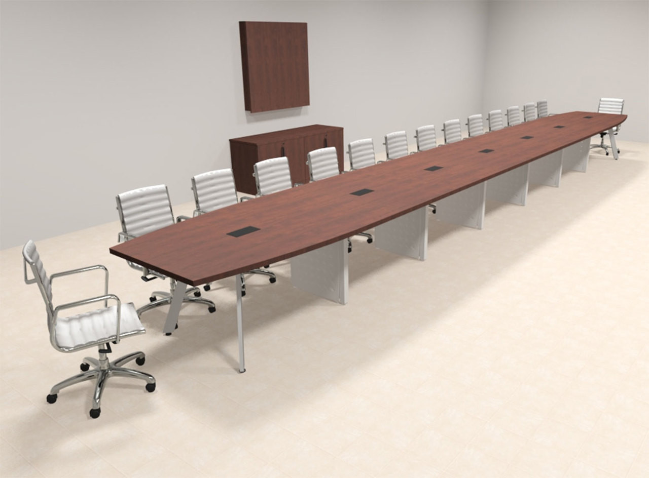 Modern Boat shaped 30' Feet Conference Table, #OF-CON-CV81