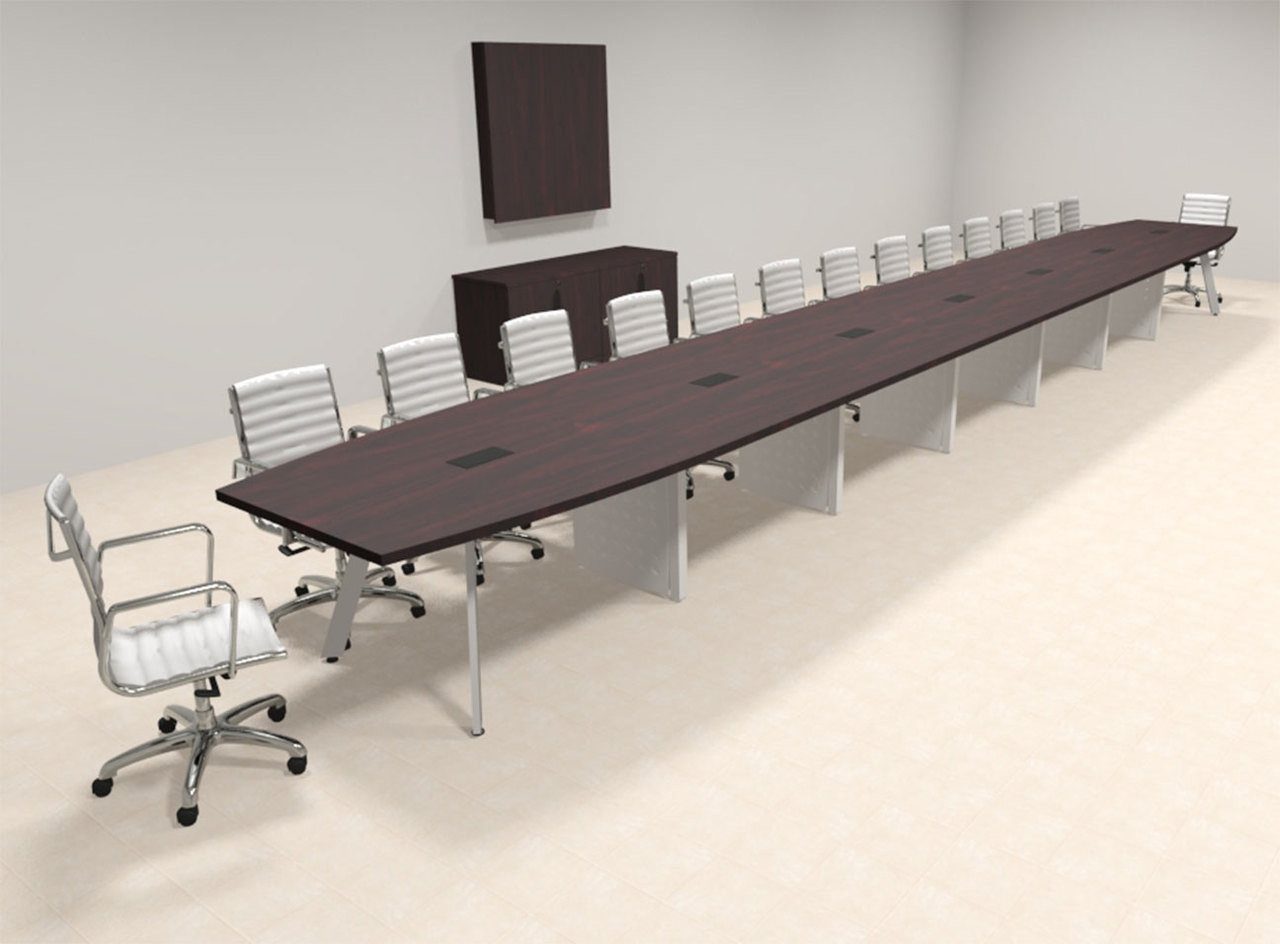 Modern Boat shaped 30' Feet Conference Table, #OF-CON-CV82