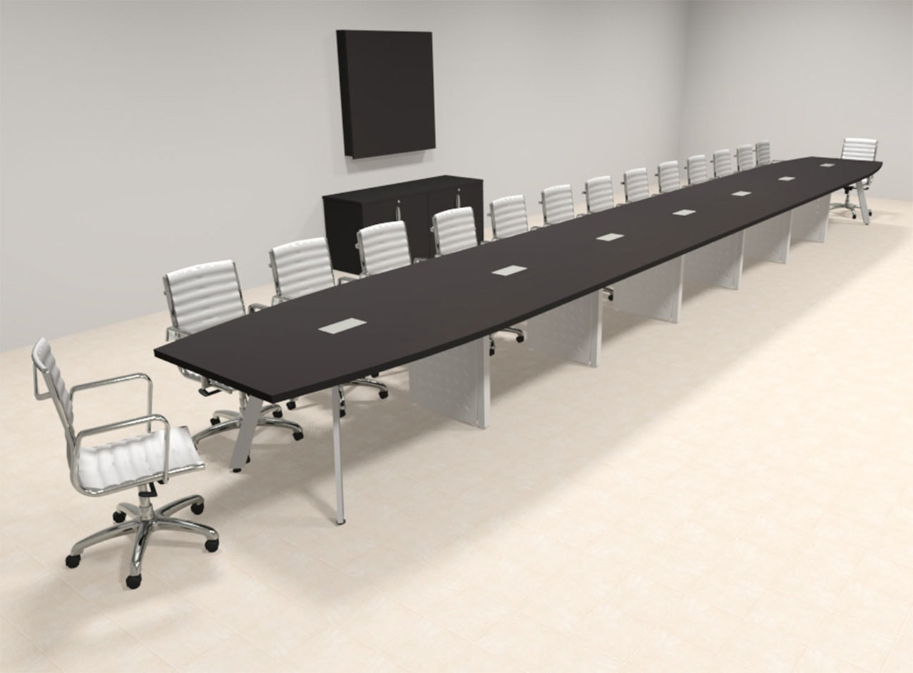 Modern Boat shaped 30' Feet Conference Table, #OF-CON-CV83