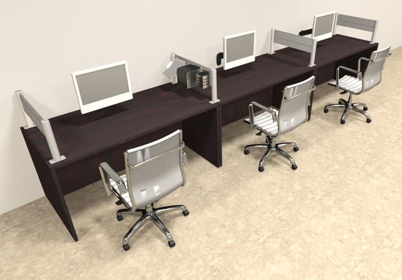 Three Person Modern Aluminum Organizer Divider Office Workstation, #OT-SUL-SPW7