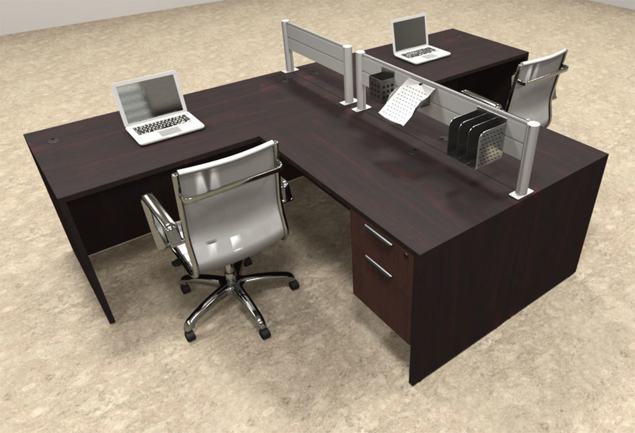 Two Person Modern Aluminum Organizer Divider Office Workstation, #OT-SUL-SPW55