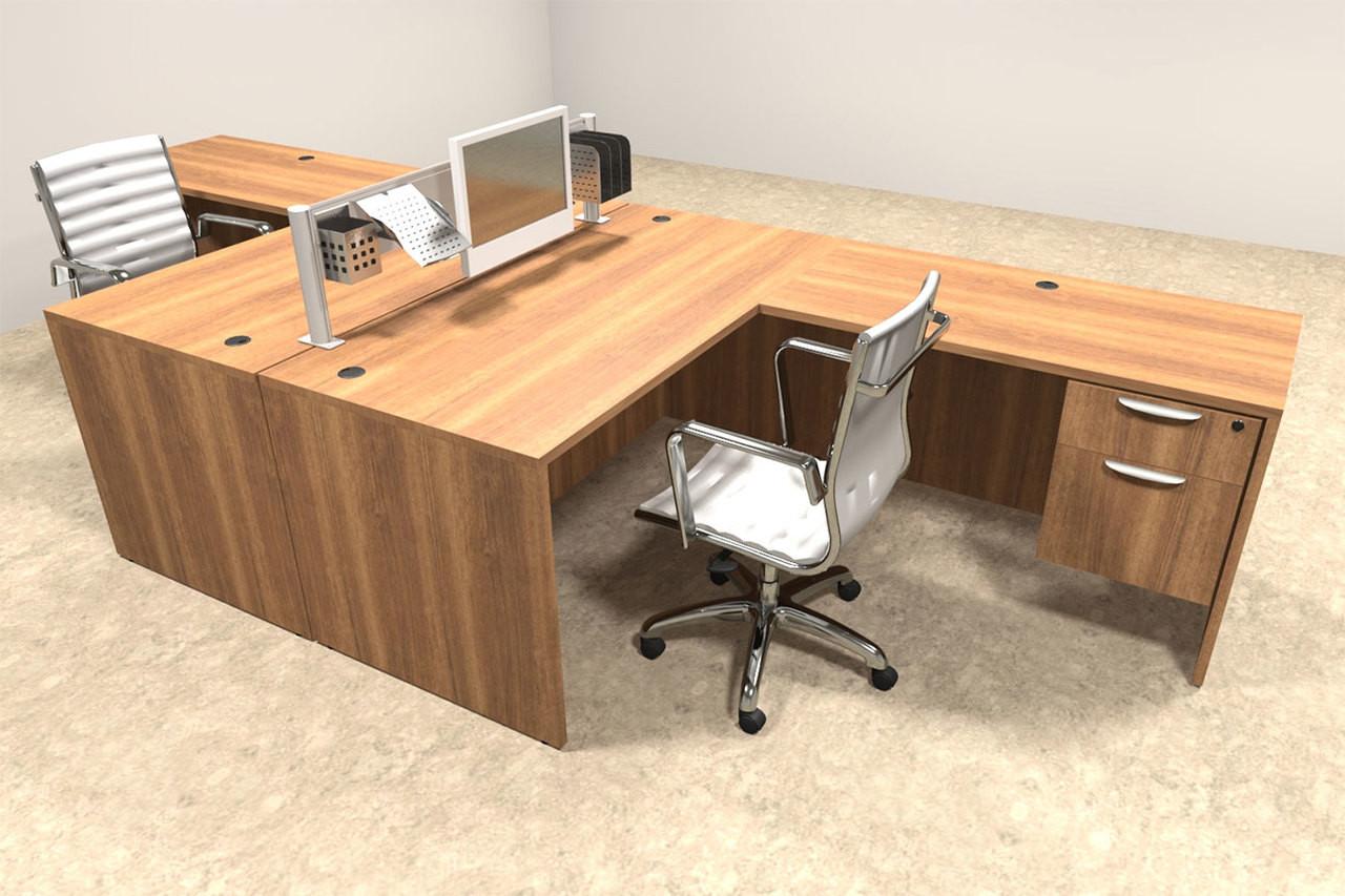 Two Person Modern Aluminum Organizer Divider Office Workstation, #OT-SUL-FPW37