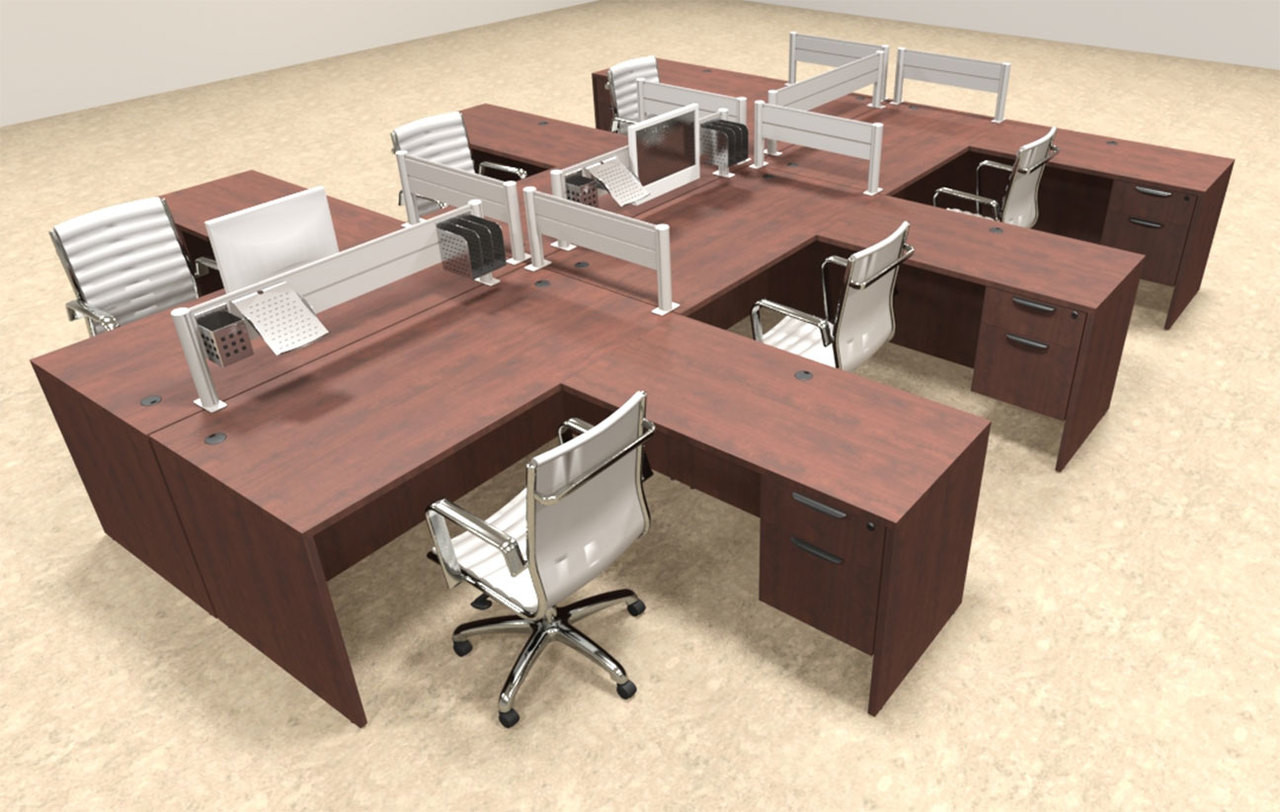 Six Person Modern Aluminum Organizer Divider Office Workstation, #OT-SUL-FPW46