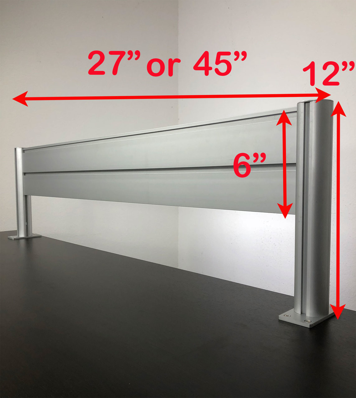 "Office Desk 27"" x 12"" Aluminum Organzier / Divider Panel Slatwall, #OT-SUL-HANG2"