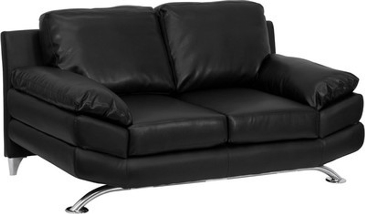 1pc Modern Leather Office Reception Loveseat, FF-0474-12